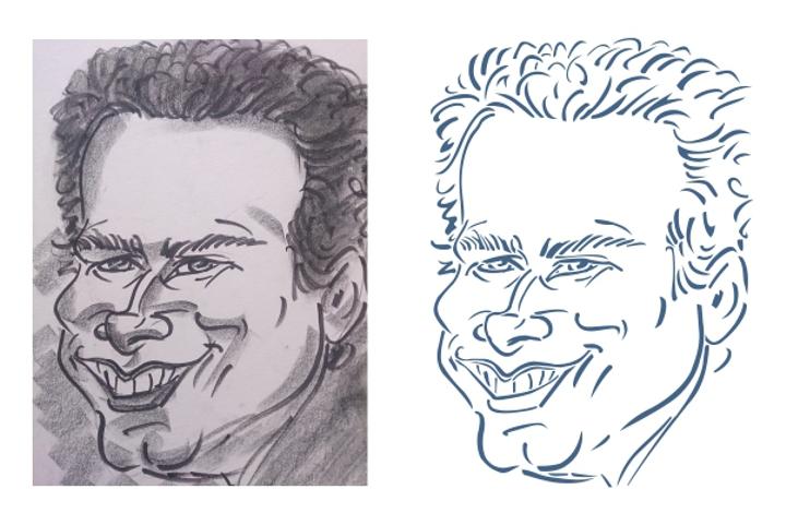 Caricature Stencil