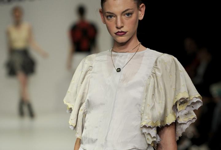laser cut silk fashion