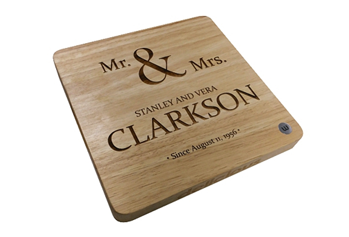 laser engraved wood cutting board