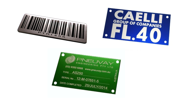 laser etched metal labels