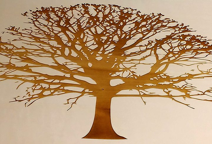 Engraved Wooden Tree
