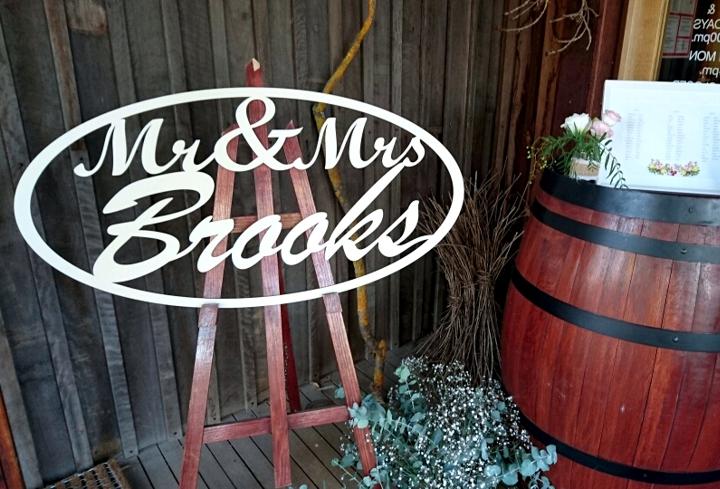 Laser Cut Wooden Wedding Sign