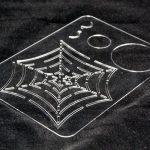 laser cut clear acrylic stencil
