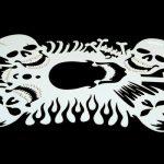 laser cut airbrush stencil