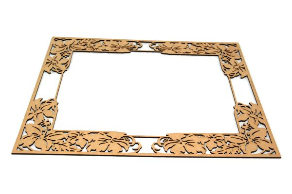Laser Cut Wood Frame Vector Raster Laser Services
