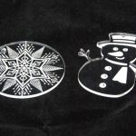 laser engraved acrylic ornaments