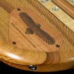 laser engraving wood eagle