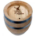 laser engraved wood barrel