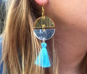 laser cut acrylic earring