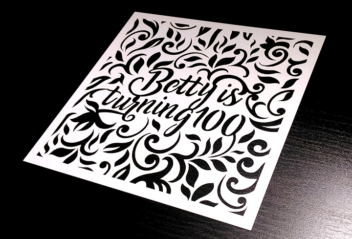 laser cut birthday invitation