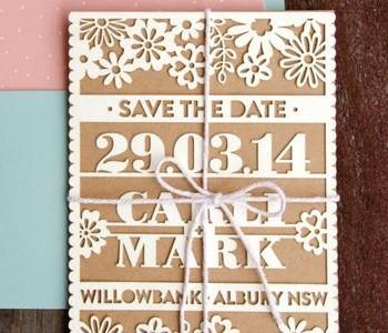 wedding invite laser cutting