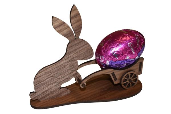laser cut wood easter bunny