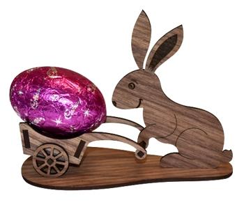 laser cut wooden easter bunny