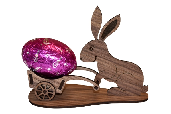 laser cut wooden easter bunny