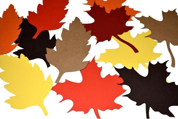 laser cut paper leaves