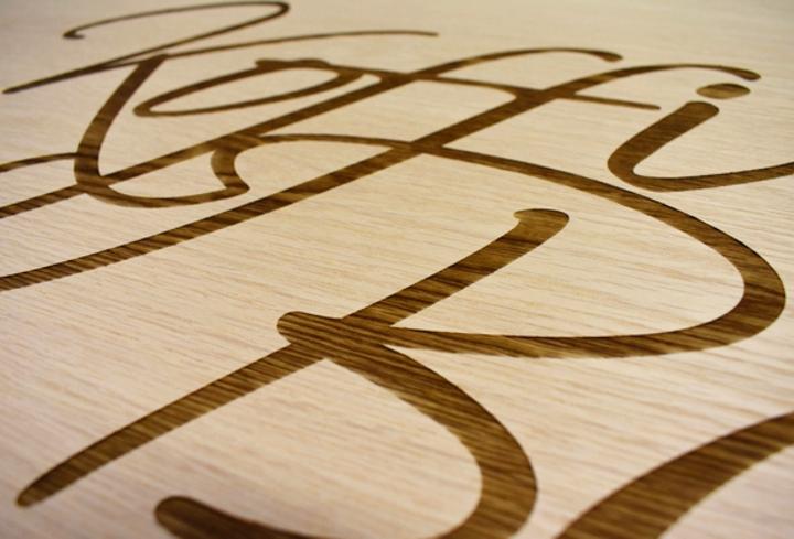koffi bar engraved wood