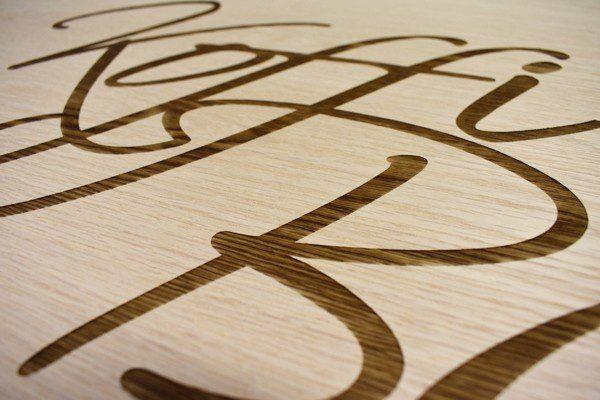 Laser Engraved Wood Image
