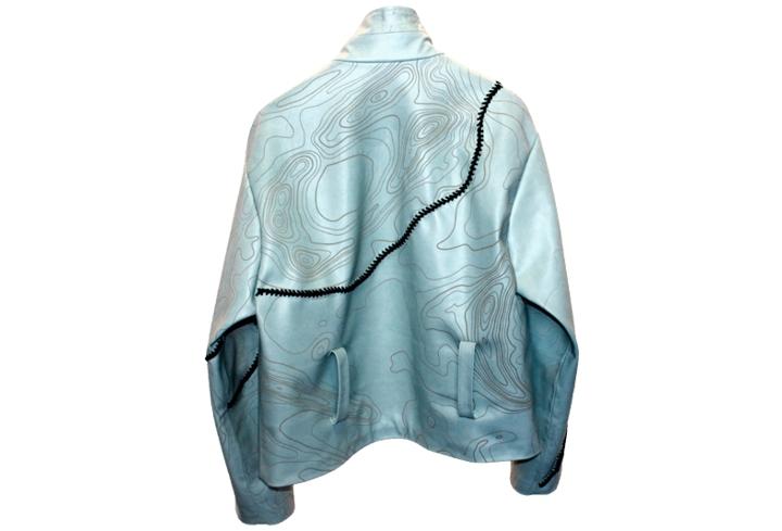 laser etched leather jacket