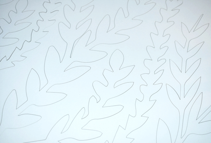 clean white laser cut paper
