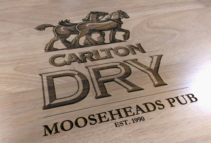 carlton laser engraved tabletop