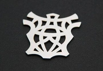 laser cut stainless pendant