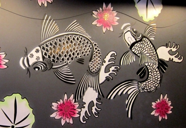 large mylar plastic wall stencil