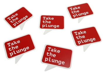 take the plunge – traffolyte plastic labels