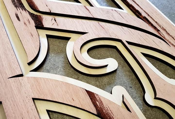laser cut layered wood